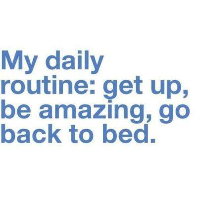 My Daily Routine...